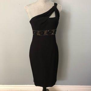 David Meister Black evening dress
